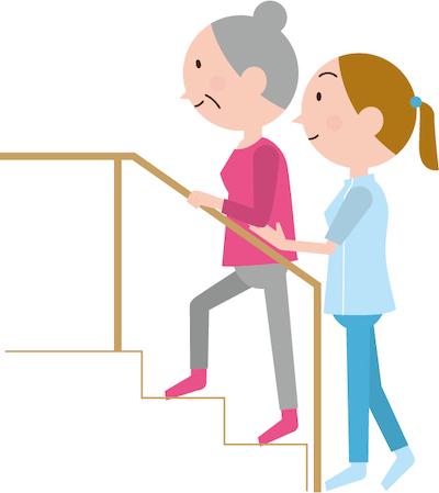 リハビリ画像階段