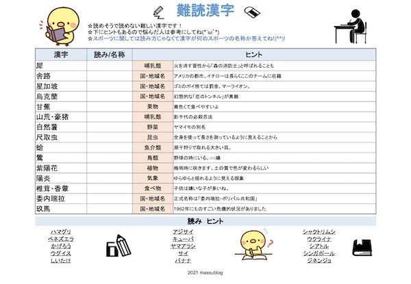 漢字プリント16