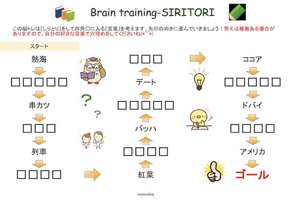 脳トレ しりとり2101