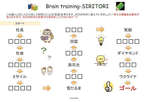 脳トレ しりとり2103