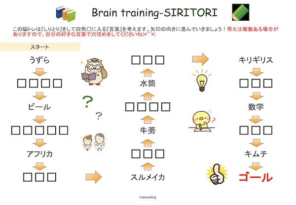脳トレ しりとり2104