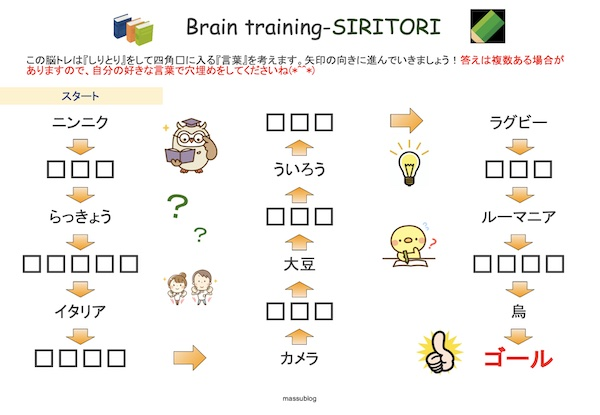 脳トレ しりとり2105