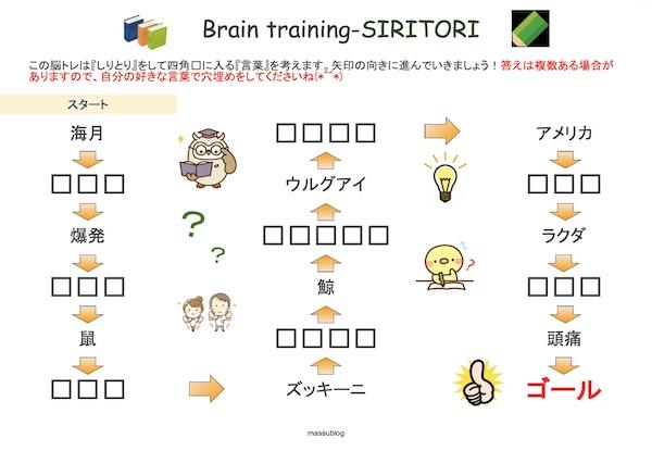 脳トレ しりとり